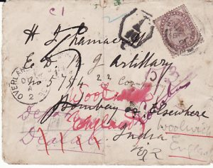 GB - INDIA..BOER WAR INDIAN CONTINGENT MAIL FOUND OPEN & DAMAGED...
