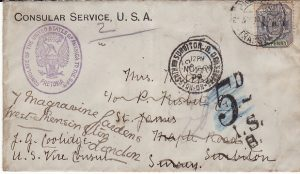 SOUTH AFRICA - USA...BOER WAR TRANSVAAL USA CONSULAR SERVICE  TAXED & TAX DELETED...