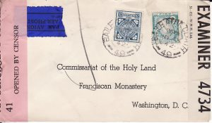 IRELAND - USA...WW2 AIRMAIL DOUBLE CENSORED...
