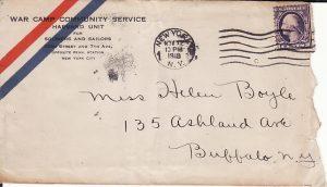 USA...WW1 WAR CAMP COMMUNITY SERVICE
