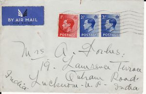 GB - INDIA...1936 EDV111 in PERIOD AIRMAIL...