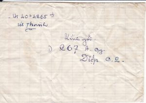 VIET-NAM...VIET-NAM WAR INGOING RE-USED MAIL to VIET CONG SOLDIER...