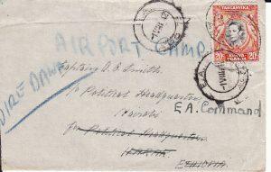 KENYA-ETHIOPIA-[WW2-POLITICAL HQ-FORWARDEDAIRPORT CAMP]