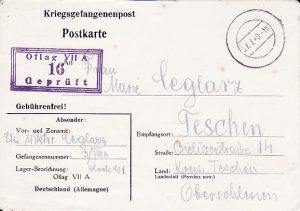 GERMANY - SILESIA...WW2 CENSORED POW MAIL...