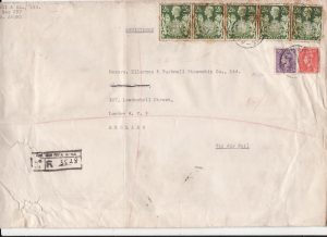 JAPAN-GB..B.C.O.F.  AUSTRALIAN POSTAL SERVICE REGISTERED..