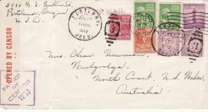 USA - AUSTRALIA...TRANS-PACIFIC AIRMAIL via US TRANSPORT COMMAND...