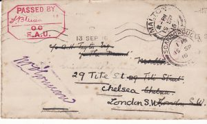 FRANCE - GB...WW1 FRIENDS AMBULANCE UNIT FORWARDED TWICE...
