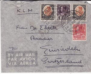 THAILAND - SWITZERLAND...RAMA VII AIRMAIL...
