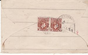 CAMEROUNS - USA...UNDER BRITISH MANDATE IMPROVISED ENVELOPE...