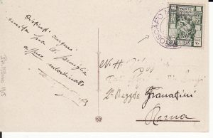 LIBYA - ITALY...ITALIAN COLONIES with PIROSCAFO MILANO STEAMER CANCEL...