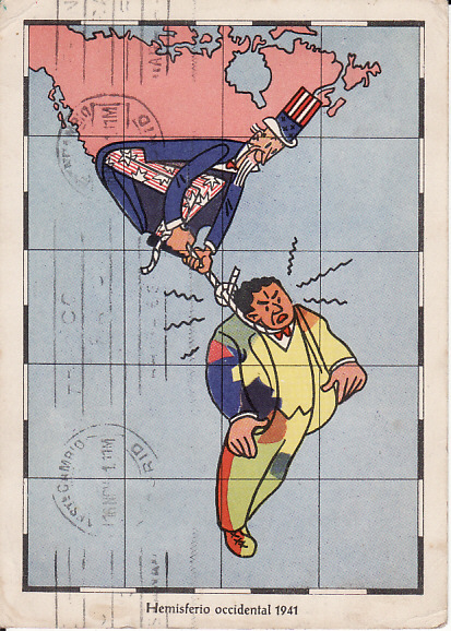[10727]  SPAIN-GERMANY..WW2 PROPAGANDA CARD  1941 (Nov 14)