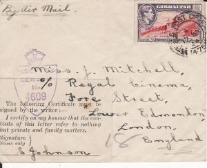 GIBRALTAR-GB...PROVISIONAL HONOUR LABEL