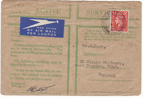 [13051]  KOREA - GB...SOUTH AFRICAN CONTINGENT KOREAN WAR..  1952 (Jul 8)