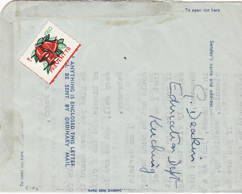 [14993]  SARAWAK-GB…1960 AIR LETTER SHEET…  1960 (Dec 21)