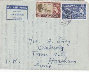 SARAWAK-GB…1960 AIR LETTER SHEET…