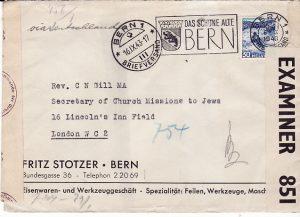 SWITZERLAND - GB...WW2 MULTIPLE CENSORED…