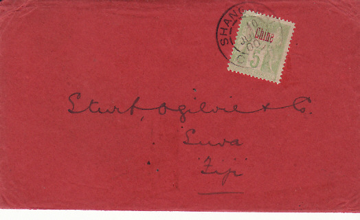 [14571]  CHINA - FIJI….1900 DESTINATION MAIL…  1900(Jul 10)