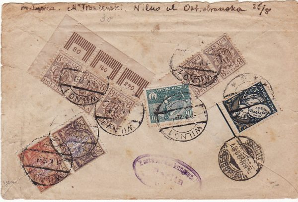 LITHUANIA/POLAND-GERMANY..1922 REGISTERED..