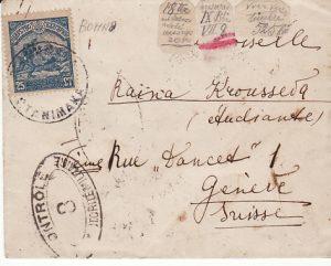 BULGARIA - SWITZERLAND...WW1 FRENCH MIL. OCCUP..RED CROSS..