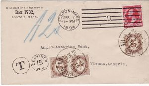USA-AUSTRIA..1st ISSUE POSTAGE DUE..