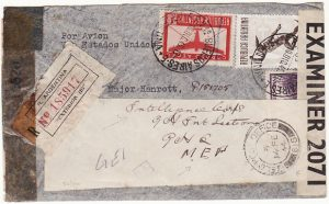 ARGENTINA-GB-MEF...INTELLIGENCE DOUBLE CENSORED REGISTERED AIRMAIL COVER..