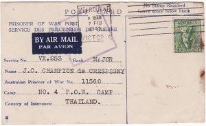 AUSTRALIA - THAILAND...LIBERATED POW from DEATH RAILWAY…