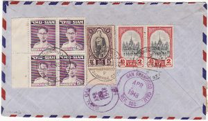 THAILAND-USA….9.20 Baht RATE REGISTERED COVER...