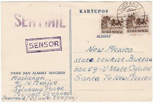 INDONESIA - USA…1960 CENSORSHIP…