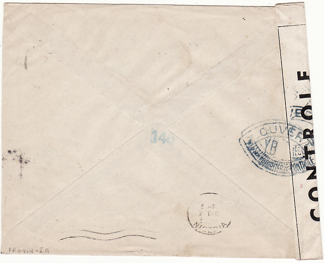 [18153]  MOROCCO - NIGERIA...WW2 CENSORED RED CROSS ENVELOPE …  1944 (Dec 20)