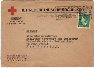 NETHERLANDS - USA...RED CROSS FOREIGN RELIEF…..