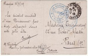 FRANCE….1919 FRENCH MILITARY MISSION CZECHOSLOVAKIA