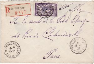 GERMANY-FRANCE…1923 FRENCH OCCUPATION FORCES..REGISTERED…