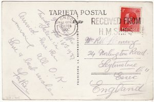SPAIN - GB...SPANISH CIVIL WAR-SS BALHAFFIE-POSTED ON BOARD MAIL..