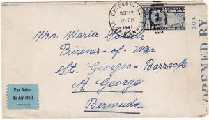 USA - BERMUDA…WW2 POW MAIL…