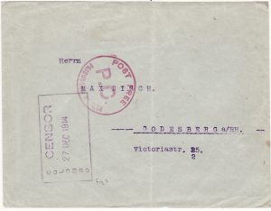 CEYLON - GERMANY...WW1 POW MAIL…