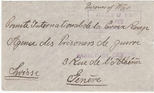 SOUTH AFRICA - SWITZERLAND…WW1 POW MAIL…