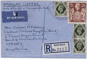 GB - AUSTRALIA…REGISTERED TRANS ATLANTIC TRANS PACIFIC AIRMAIL…