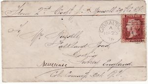 GIBRALTAR - GB…1875 SOLDIERS 1d CONCESSION RATE…