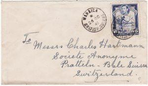 BRITISH GUIANA - SWITZERLAND…SMALL TOWN CANCEL...