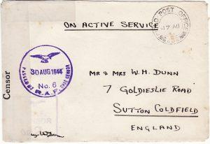 ITALY - GB..WW2 BRITISH RAF & BASE CENSOR...