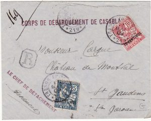 MOROCCO - FRANCE...FRENCH FORCES REGISTERED...