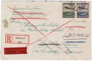 GERMANY - CYPRUS...REGISTERED EXPRESS AIRMAIL…