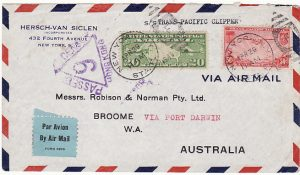 USA-AUSTRALIA [TRANS-PACIFIC AIRMAIL/CENSORED in HONG KONG]