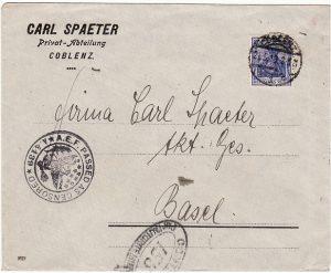 GERMANY-SWITZERLAND….POST WW1 USA & FRENCH CENSORS…