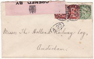 GB - HOLLAND...WW1 CENSORED …