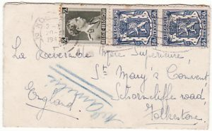 BELGIUM - GB…1940 CENSORED MINIATURE ENVELOPE…