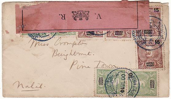 PORTUGUESE  EAST AFRICA - SOUTH AFRICA…1900 BOER WAR CENSORED...