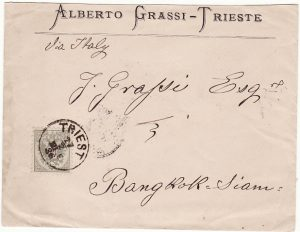 AUSTRIAN TRIESTE - THAILAND….1886 with BANGKOK PAID…
