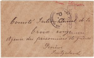 CEYLON - SWITZERLAND…...WW1 POW MAIL…