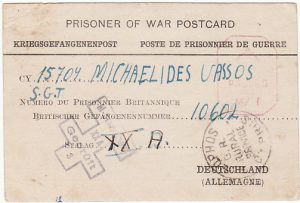 CYPRUS - GERMANY….WW2 TO CYPRIOT POW CENSORED & with RURAL POST ..